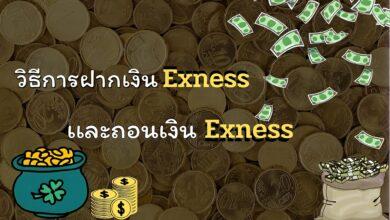 ฝากเงิน Exness และถอนเงิน Exness